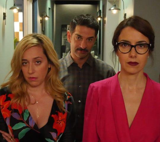 """Mariana Treviño (left) Miguel Rodarte and Cecilia Suárez star in """"Perfectos Desconocidos."""""""