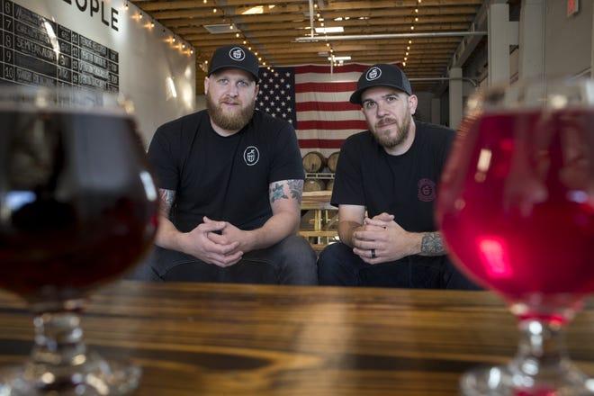 Jason (left) and Josh Duren, Dec. 5, 2018, at Cider Corps, 31 S. Robson, Mesa.