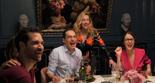 "Manuel Garcia-Rulfo (from left), Bruno Bichir, Mariana Treviño and Cecilia Suárez star in ""Perfectos Desconocidos."""