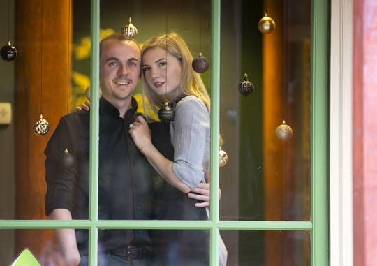 Child actor Frankie Muniz and his fiancee, Paige Price, own and run Outrageous Olive Oils & Vinegars in Old Town Scottsdale, Arizona.