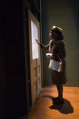 """Backstage at the Herberger Theater Center, Lillie Richardson prepares for her entrance during technical rehearsals for """"Doubt, a Parable."""""""