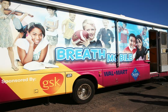 Breathmobile treated children with asthma at Irene Lopez Elementary School on Nov. 15, 2018, in Phoenix.