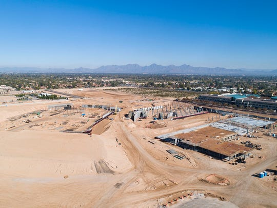 Aerial view of the construction site of The Ritz-Carlton, Paradise Valley