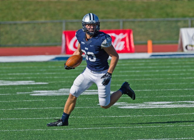 Cedar Crest grad Evan Horn was named an FCS Sophomore All-American on Tuesday following a standout season for the University of New Hampshire football team.
