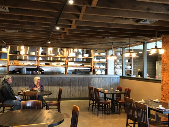 One of two dining areas inside Rising Sun Kitchen & Bar.