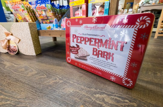 Peppermint bark was listed on this year's list of America's least favorite Christmas candy by  CandyStore.com.