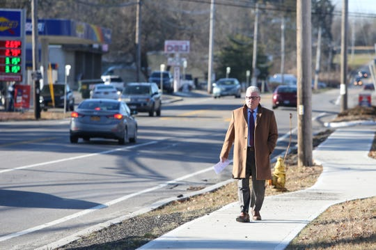 Larry Breslow, an attorney representing one of Zuleyma Lopez's children near the site on Route 52 in Fishkill on December 19, 2018. In late March Lopez and one of her children were struck by a car and died while crossing the road.