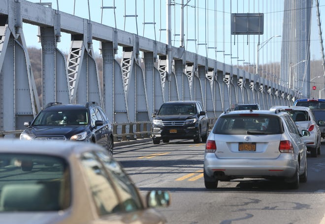 Traffic on the Mid-Hudson Bridge is pictured in this December 2018 file photo.