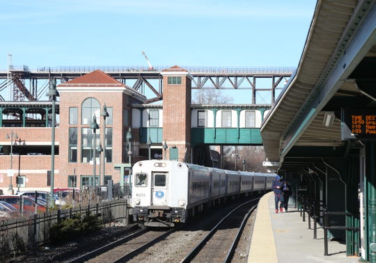 A Metro North train prepares to depart the Poughkeepsie Train Station on December 19, 2018.