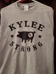 "The sale of ""Kylee Strong"" T-shirts benefit the high school h junior's quest for a prosthetic leg."