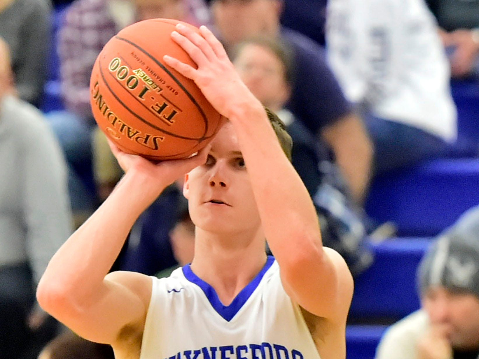 Aiden Campbell shoots for Waynesboro on Tuesday, December 18, 2018. Waynesboro defeated Shippensburg 72-59 during a home game.
