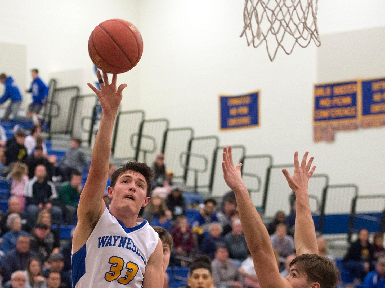 Waynesboro's Hunter Clever (33) shoots on Tuesday, December 18, 2018. Waynesboro defeated Shippensburg 72-59 during a home game.
