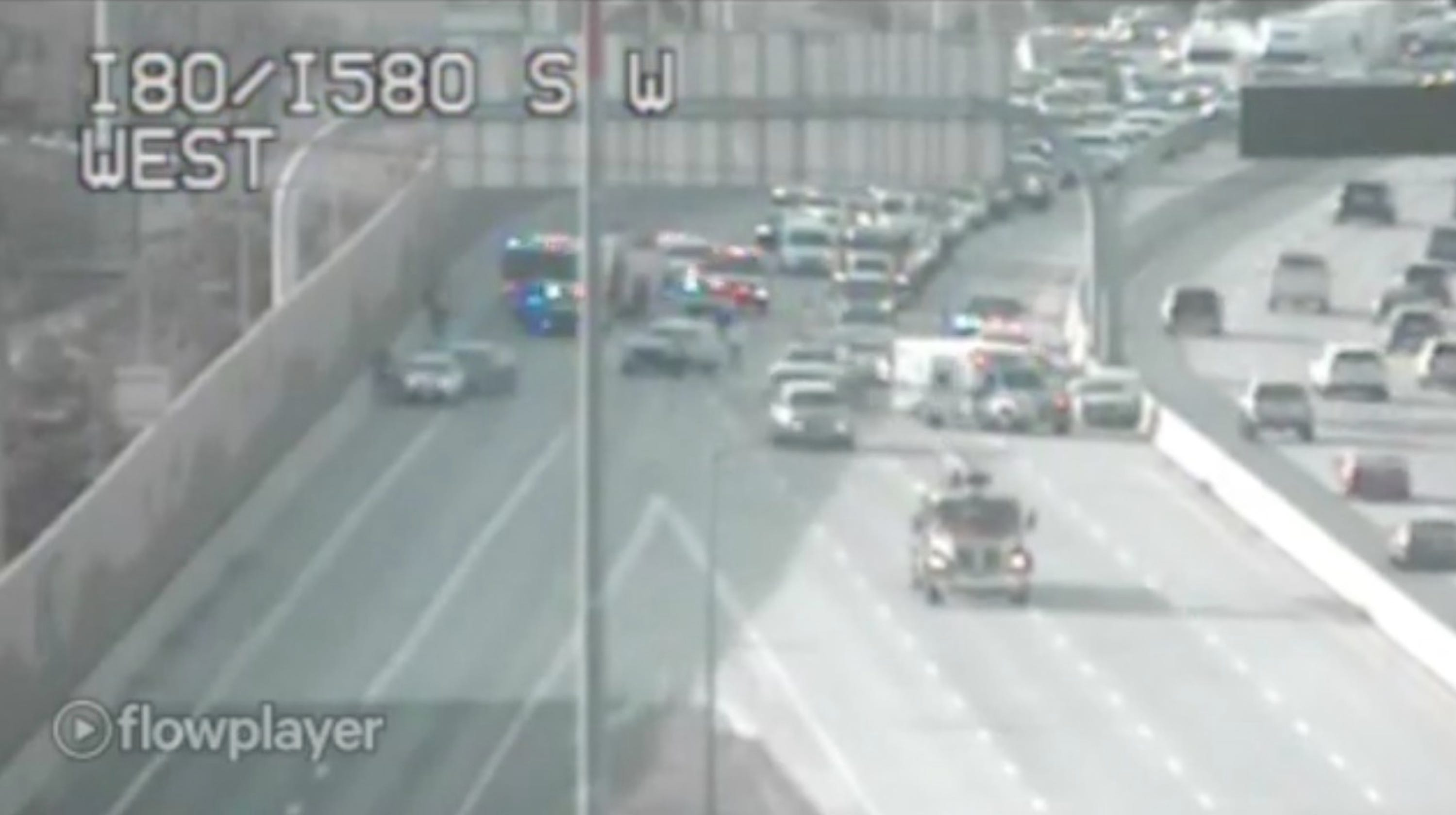Accident on eastbound I-80 at Wells is backing up traffic