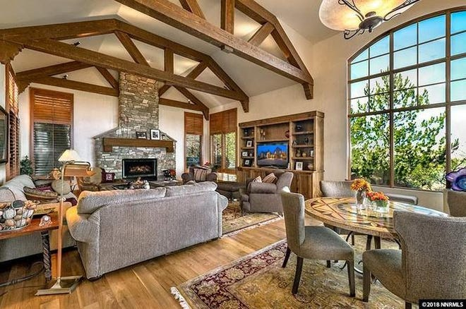 50 Lonepine Court sold in 2018 for $1.625 million, just over the $1.6 million average sale price for the typical luxury home in Reno, according to a recent Redfin report.
