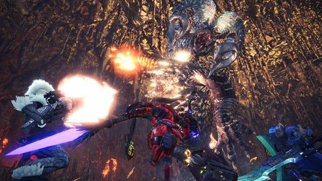 Arch Tempered Kulve Taroth in Monster Hunter World.