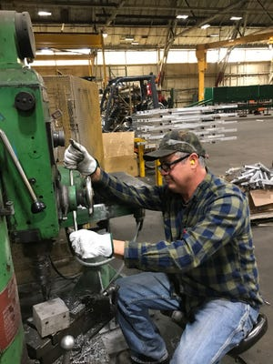 Welder and millwright Frank Vazquez says variety is the best part of his job at Sierra Pacific Industries. He joined the company after completing a training program at Shasta College.
