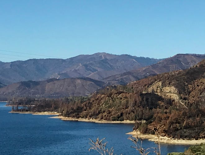 The Carr Fire scorched a large part of the Whiskeytown National Recreation Area as evidenced by this December photo.