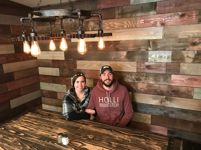 Restaurant owners Mandy Erickson and Eric Pratt at The Mill in Stayton on Dec. 18, 2018.
