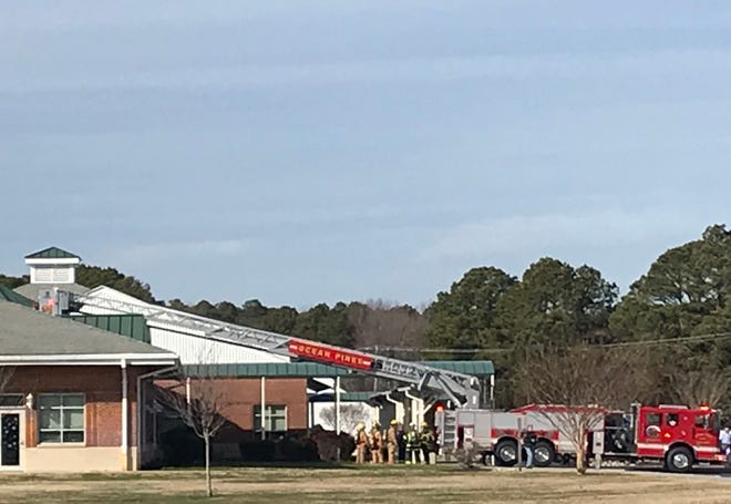 Fire crews responded to Ocean City Elementary School in West Ocean City on Wednesday, Dec. 19.