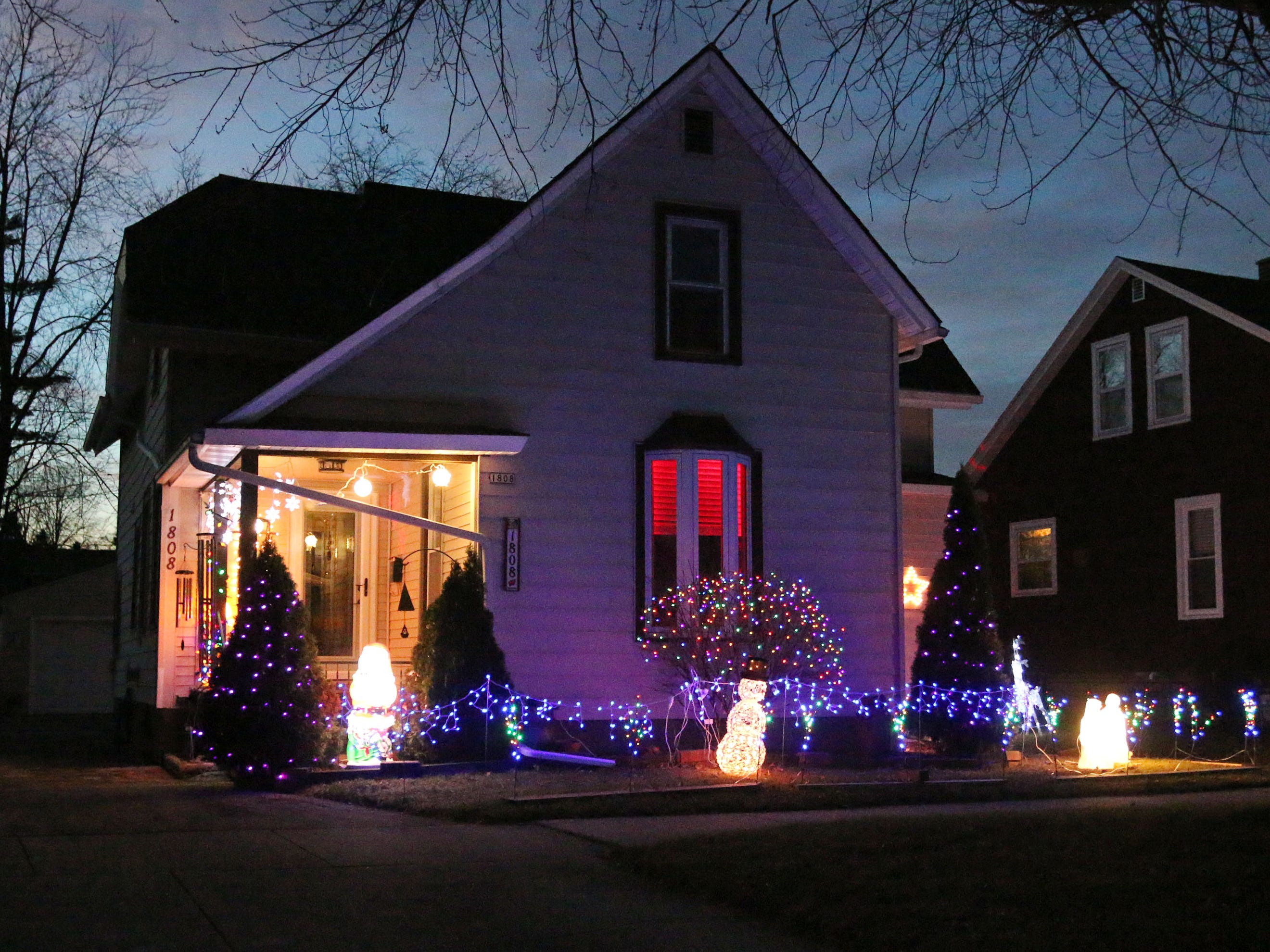 Colors and hues show off this North 2nd Street home, Tuesday, December 18, 2108, in Sheboygan, Wis.