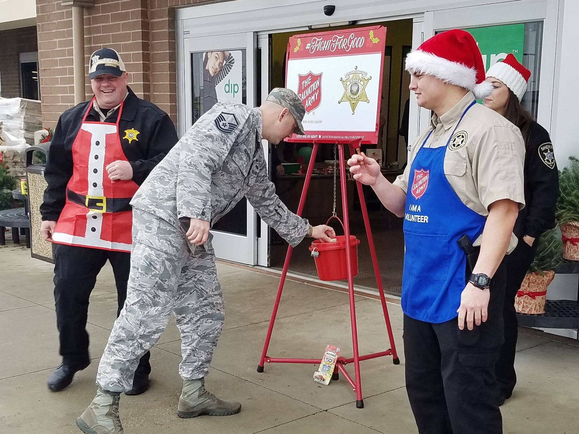 Bossier Sheriff's Office won the 2018 Red Kettle Challenge with $1,864.86.
