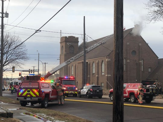 No one was hurt after a fire broke out at the Our Lady of Guadalupe Church in eastern Sioux Falls on Wednesday, Dec. 19, 2018. The cause of the fire is still under investigation.