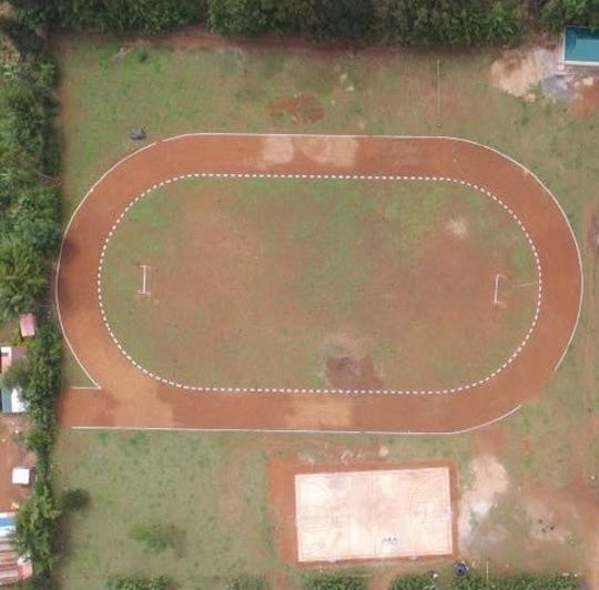 The 200 meter track Brockmueller built for Simba Educational Ministries in Kenya.