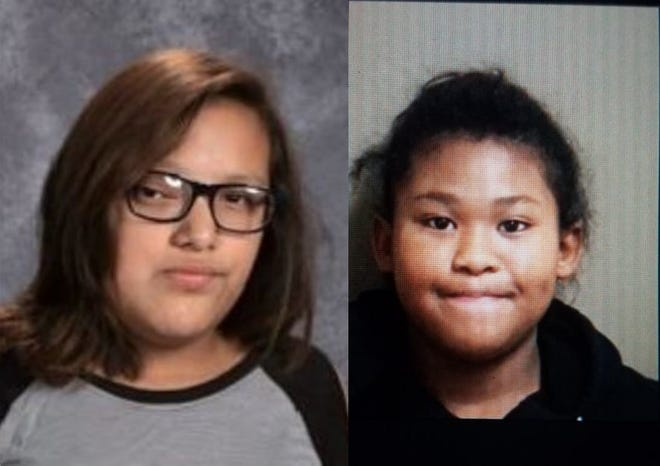 Ayruis Rain Paypay, 13, (left) and Nevaeh Love Shields Bortolussi, 12, have been missing since Tuesday, Dec. 18,. 2018.