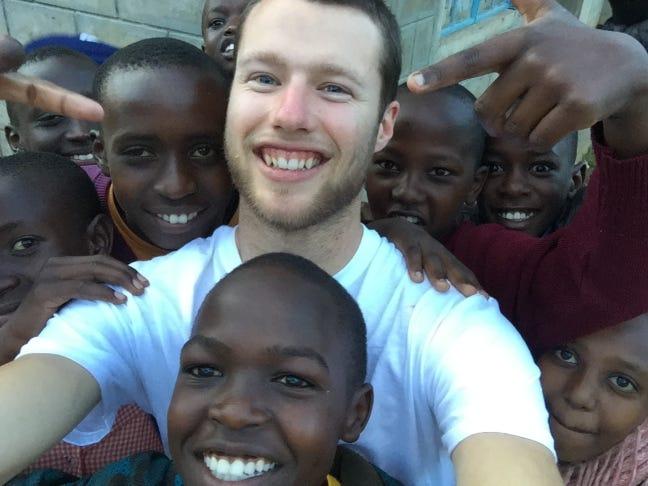 Bill Brockmueller during his time in Kenya.