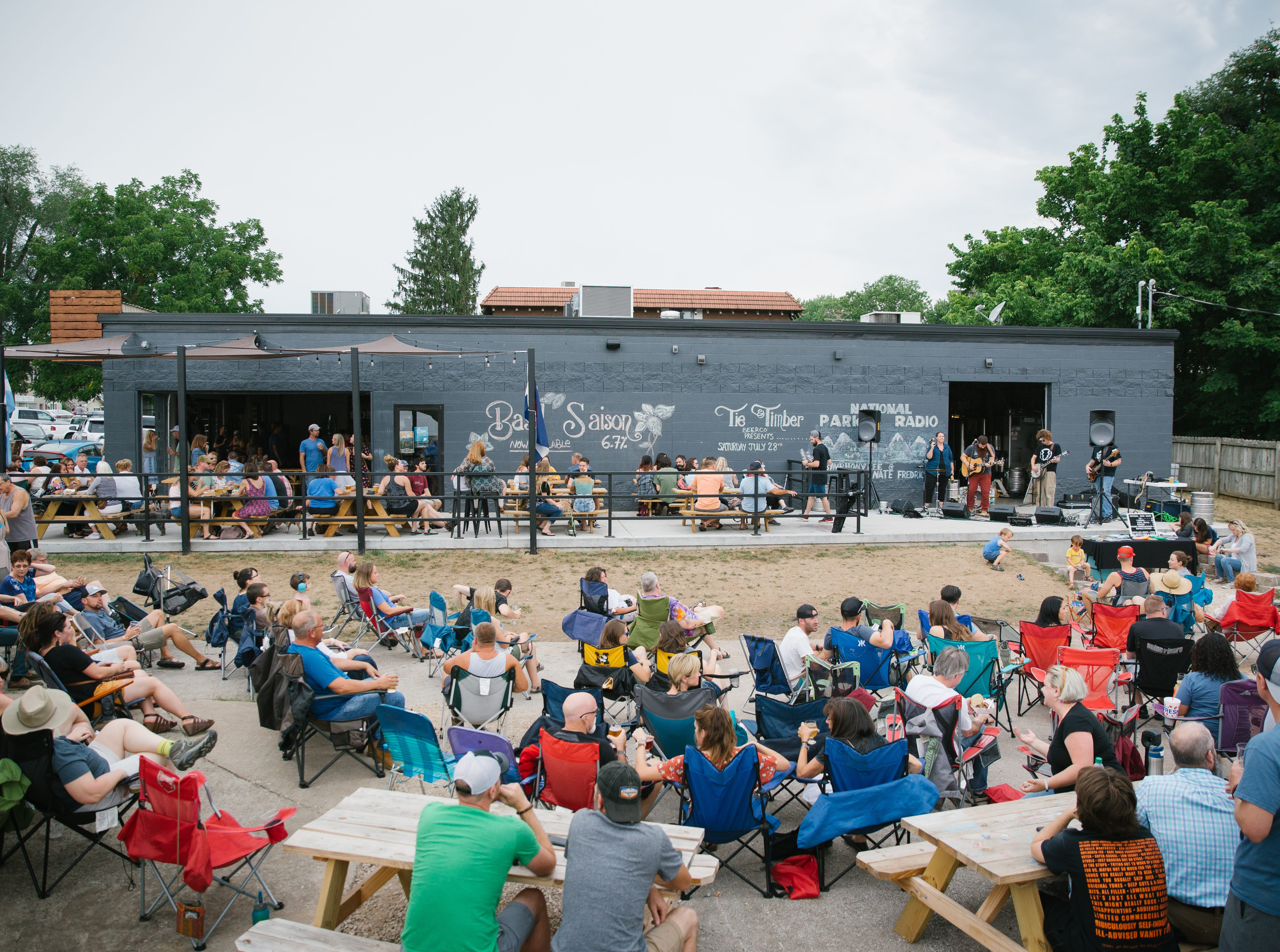 Tie & Timber's Dock Concert on  July 28, 2018 in Springfield. The brewery has quickly become a Rountree neighborhood gathering spot.