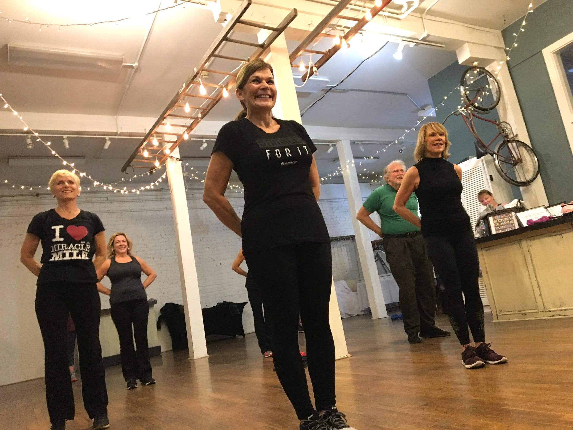 Photographed at Jazzercise Staunton at Queen City Place on Friday, Dec. 14, 2018, about a dozen people can't wait to get to Maryann Acuff's Jazzercise class. An eclectic group, everyone has come to feel like family.