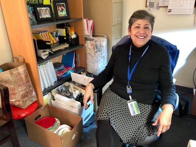 Augusta County Schools ESL parent liaison Elsa Kiser poses in her office on Dec. 18, 2018.