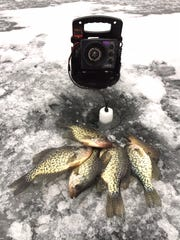 Persistent searching is often necessary for winter panfish success.