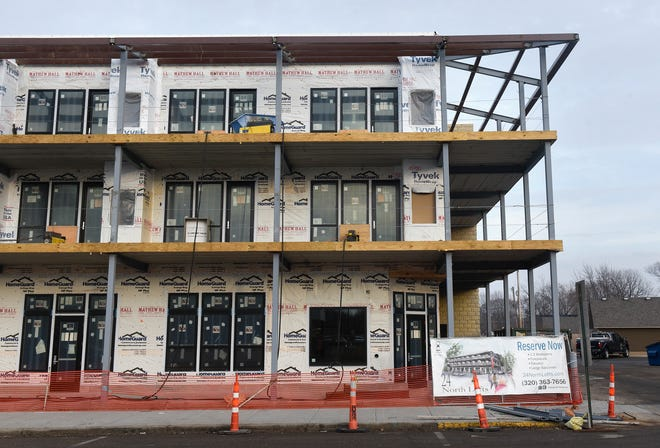 The location of a proposed restaurant is pictured Wednesday, Dec. 19, at the 24 North: Lofts on College Avenue in St. Joseph.