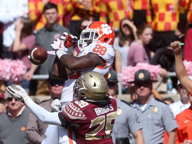 The Florida State Seminoles take on the Clemson Tigers in college football at Doak S. Campbell Stadium on Saturday, Oct. 27, 2018. The Seminoles lost to the Tigers 10 - 59.