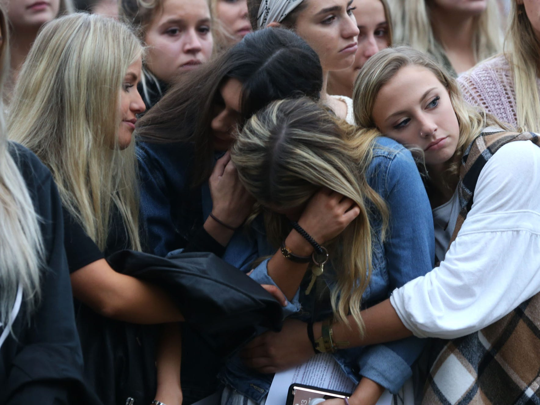 Hundreds of people attended a vigil held at Florida State University in honor of the two lives that were lost, Maura Binkley and Nancy Van Vessem, during the shooting at Hot Yoga Tallahassee, on Nov. 4, 2018. Friends, extended family, and sorority sisters of the victims gathered to pay their respects.