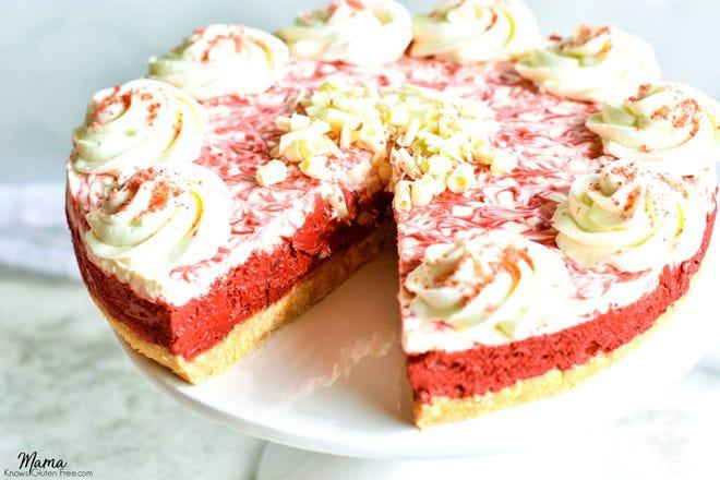 No-bake Red Velvet Cheesecake is gluten free.