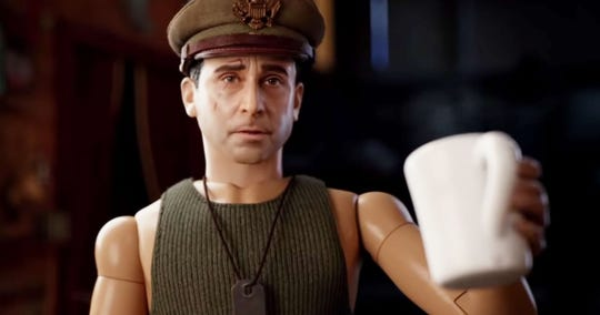 """Steve Carell escapes inside a fantasy world in """"Welcome to Marwen,"""" opening Friday."""