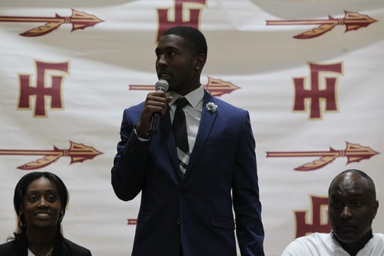Florida High senior defensive back Raymond Woodie III signed Wednesday to play at FSU.