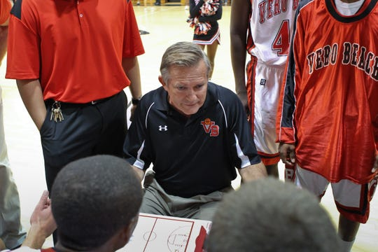 Coach Chuck Loewendick  guided Vero Beach High School's boys basketball team to 11 of its 14 Holiday Hoopla titles during his 29-year run from 1988 to 2017.
