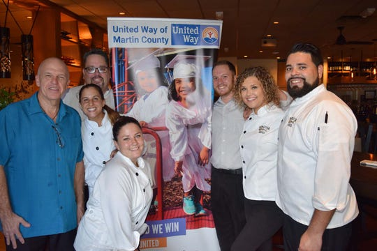 Alan Armstrong, general manager of Stuart's Bonefish Grill,  and his staff at the 2018 United Way of Martin County Donor Appreciation Luncheon.