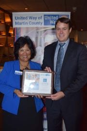Carol G. Houwaart-Diez and Chad Hastings at the 2018 United Way of Martin County Donor Appreciation Luncheon.