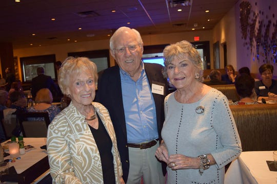 Ginny Genthe, left, with George and Betsey Stewart at the 2018 United Way of Martin County Donor Appreciation Luncheon.