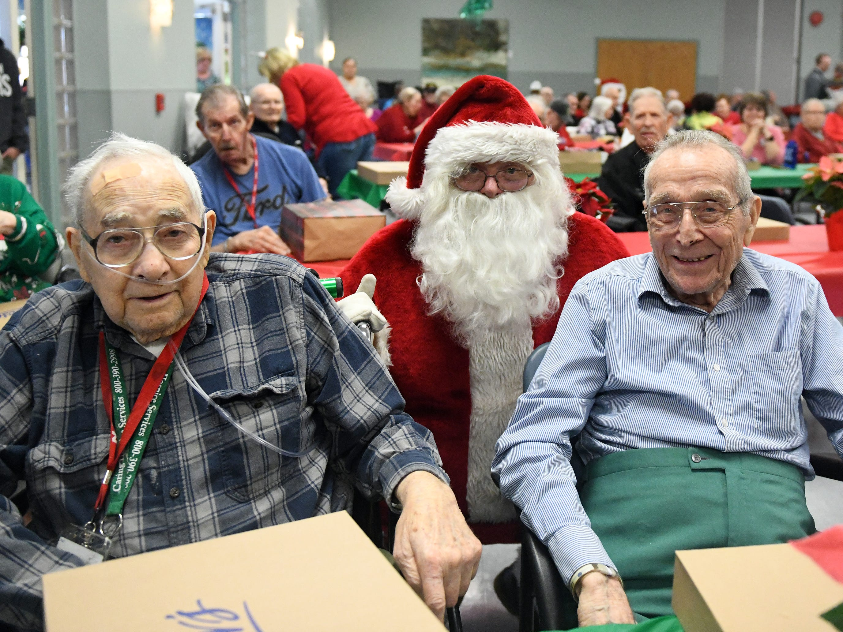 "Santa talks with N.J. Veterans Memorial Home residents during the eighth annual ""Second Wind Dreams"" celebration on Wednesday, December 19, 2018."