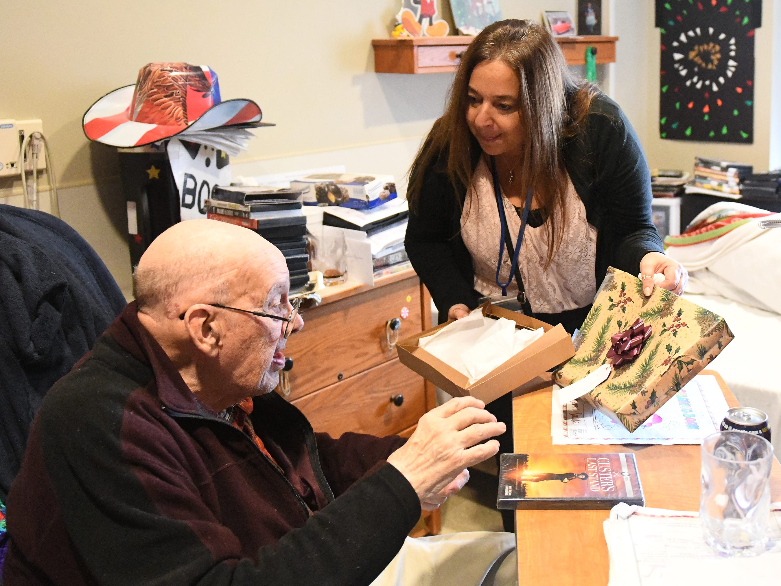 "N.J. Veterans Memorial Home resident Melvin Lyman requested the movie ""Custer's Last Stand"" as his gift before the eighth annual ""Second Wind Dreams"" celebration in Vineland."