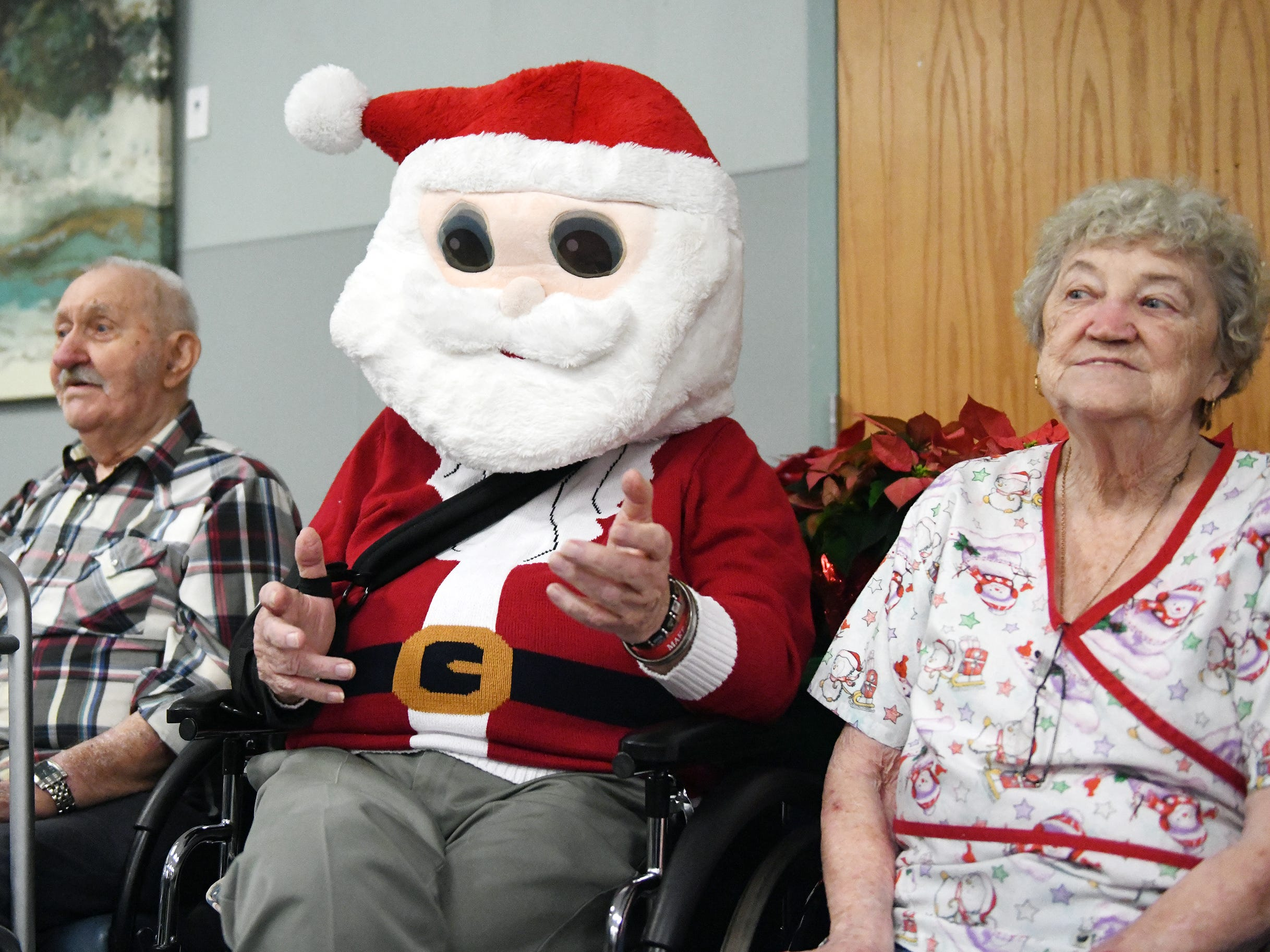 The non-profit group Second Wind Dreams and Boscov's teamed up to throw a big Christmas party for Veterans Memorial Home residents. Some 300 gifts were handed out to the veterans on Wednesday, December 19 in Vineland.