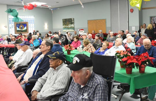 "300 N.J. Veterans Memorial Home residents received a gift specially selected for them during the eighth annual ""Second Wind Dreams"" celebration in Vineland on Wednesday, December 19, 2018."