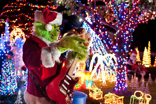 Van Crawford, a.k.a., the Grinch of Visalia, used tens of thousands lights in a display at his house in Visalia.