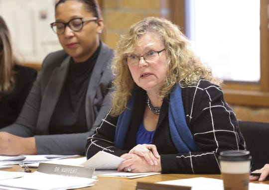 Dr. Patricia Schnabel Ruppert, Rockland County Commissioner of Health, offers remarks during a board of health meeting in Pomona on Wednesday, December 19, 2018.