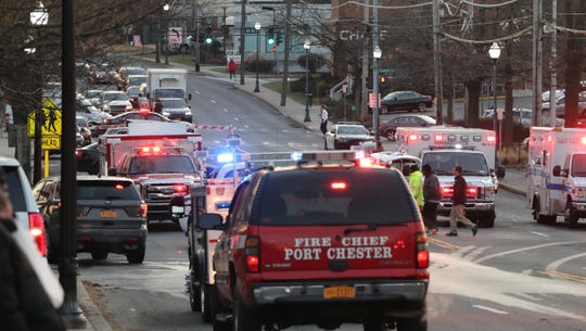 Route 1 was closed at Weaver St. because of a fire at Excelsior Cleaners at the Ferndale Center in Larchmont Dec. 19, 2018.